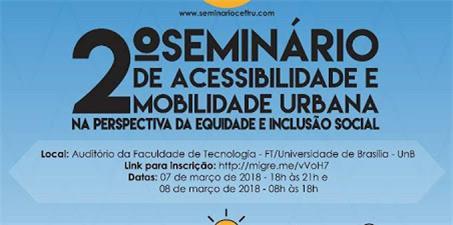 2º Seminário de Acessibilidade e Mobilidade na Perspectiva da Inclusão