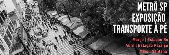 """Exposição """"Transporte a Pé"""", no Metrô de SP"""