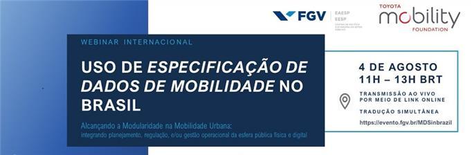 Uso de Especificação de Dados de Mobilidade no Brasil (Webinar)