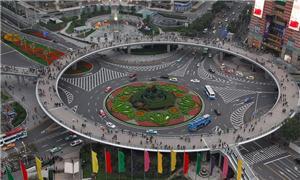 A passarela chinesa em forma circular