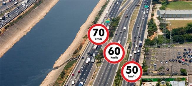 Acidentes caem 29% após redução da velocidade nas