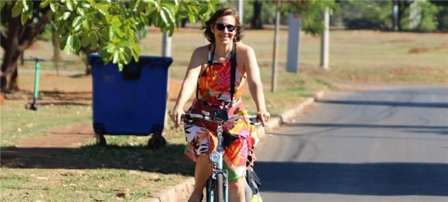 Ana Carboni, presidenta da União dos Ciclistas do