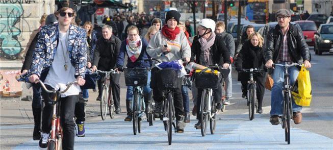 Anos 2000: Ciclistas em Copenhague