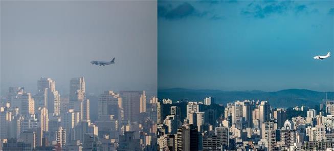 Antes e depois da quarentena: ar mais limpo é visí