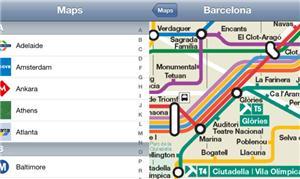Aplicativo mostra mapas de metrôs pelo mundo