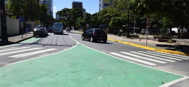 Áreas pintadas de verde são