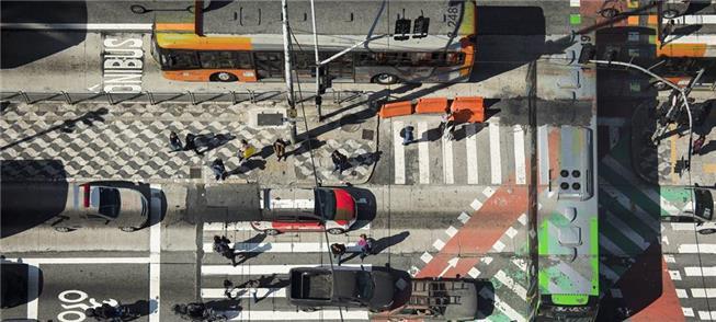Av. Paulista com Consolação (SP), em foto de dupla