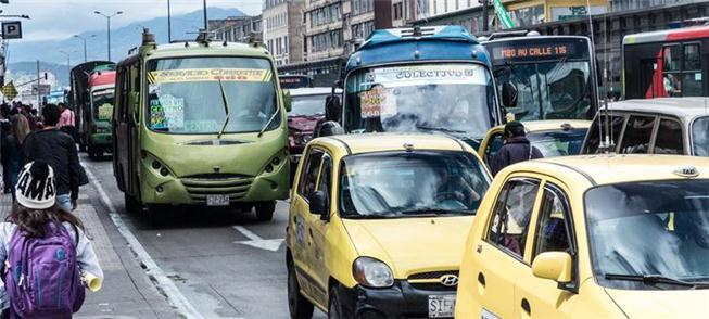 Avenida de Bogotá tomada pelas