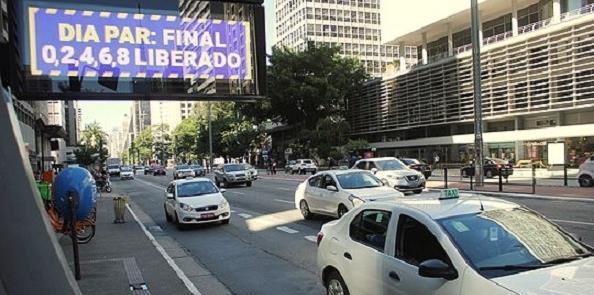 Avenida Paulista, hoje (12) em imagem do site G1