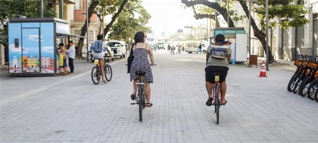 Avenida Rio Branco, aberta para as pessoas em 2017