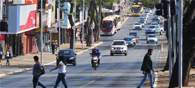 Avenida W3 Sul, em Brasília, por onde passará o VL