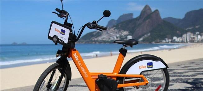 Bicicleta elétrica do sistema BikeRio