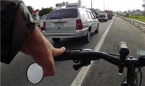 Bicicleta percorreu o trajeto de quase 15 quilômet