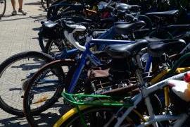 Bicicletário lotado