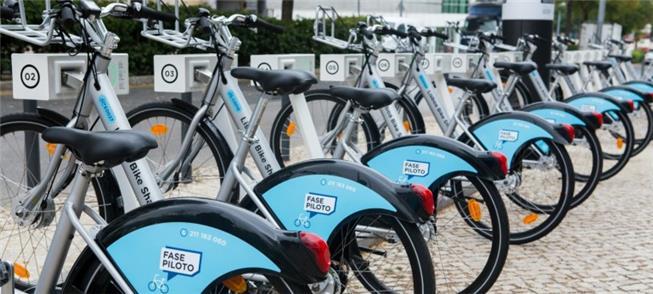 Bicicletas compartilhadas chegam à capital portugu