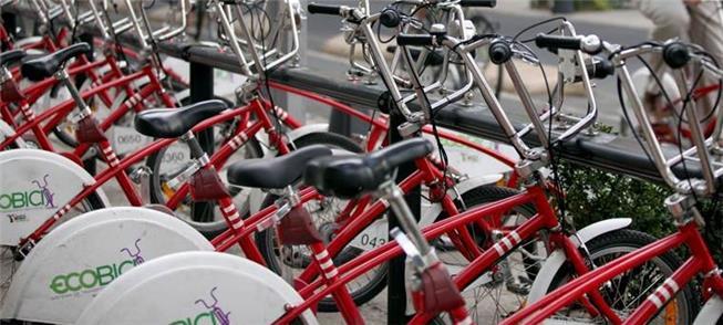 Bicicletas da Ecobici, na Cidade do México