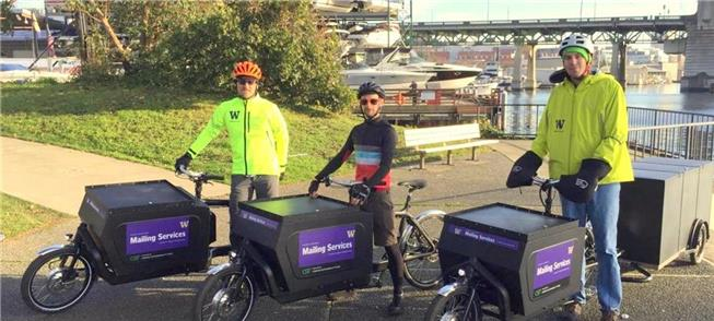 Bicicletas elétricas em serviço na cidade de Seatt