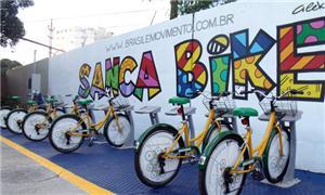 Bicicletas estão disponíveis para locação