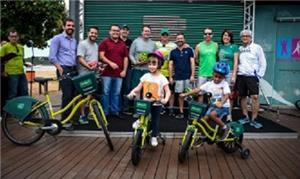 Bike Kids chegam ao projeto de bikes públicas de V