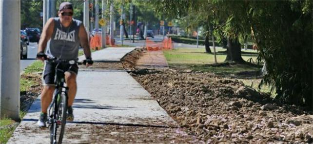 Bikes e pedestres ficarão lado a lado