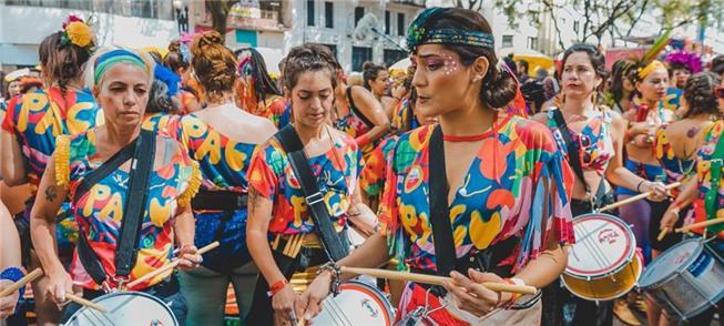 Bloco Pagu, na abertura do Carnaval de São Paulo