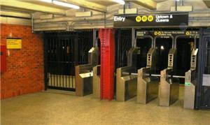 Bloqueios na estação 49th Street de NY