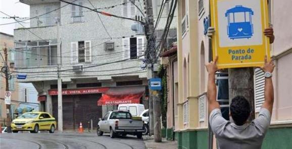 Bonde de Santa Teresa: 100 novas placas de sinaliz