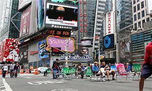 Broadway, na Times Square, Nova Iorque