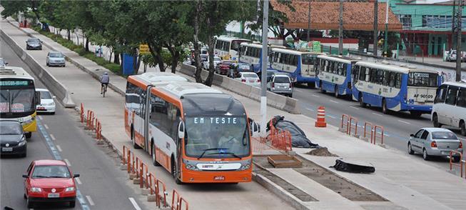 BRT em Belém (PA), uma das obras financiadas pelo
