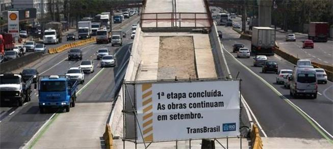 BRT Transbrasil: obras interrompidas desde o ano p