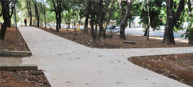 Calçadas da Asa Norte já foram recuperadas