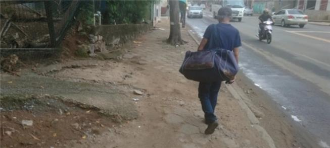 Calçadas irregulares em Maruípe (Vitória)