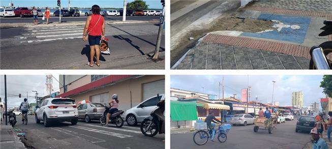 Caminhos do pedestre em Aracaju (SE)