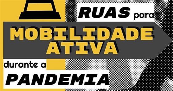 Cartaz da campanha Ruas para Mobilidade Ativa