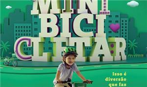 Cartaz de inauguração do Mini Bicicletar no doming