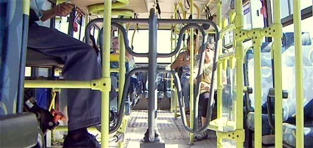 Catraca em ônibus urbano