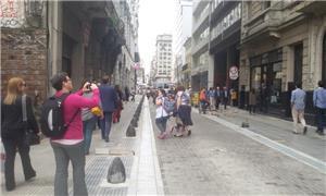 Centro de Buenos Aires: ruas somente para pedestre