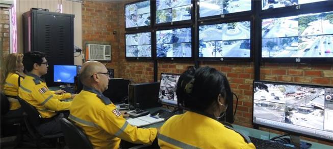 Centro de monitoramento de trânsito, em JP