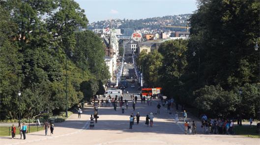 Centro de Oslo, na Noruega