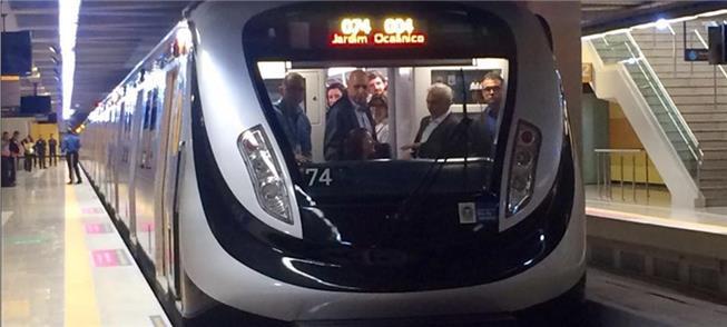 Cerimônia de inauguração da Linha 4 do Metrô do Ri