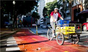 Ciclistas dizem estar mais seguros com a implantaç