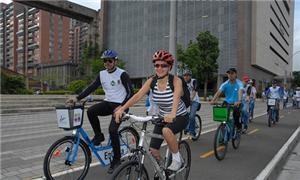 Ciclistas em Meddelin
