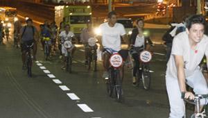 Ciclistas em Vila Velha, ES