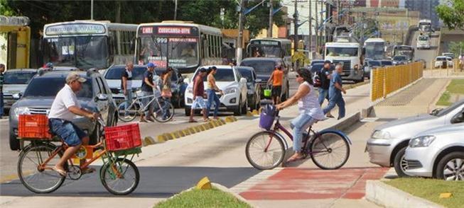 Ciclistas lotam as ruas e ciclovias de Belém