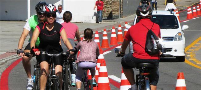 Ciclofaixa pode virar via permanente para ciclista