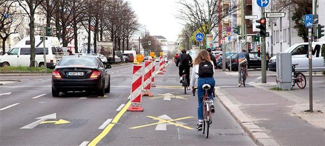 Ciclovia corona em Berlim, Alemanha