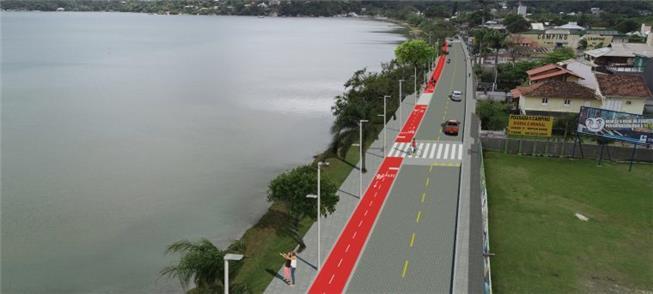 Ciclovia e novas calçadas na avenida das Rendeiras