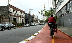 Ciclovia fica no bairro Chácara Santo Antônio