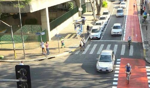 São Paulo: ciclovia na estação Marechal Deodoro do