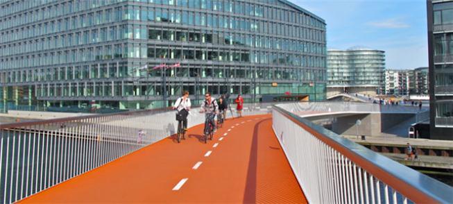 Ciclovia liga a avenida Fisketorvet até Harbour Br